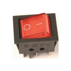 Doble Interruptor Luminoso 16A/250V.
